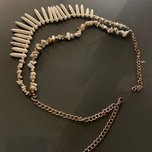 Anthropologie natural stone statement necklace